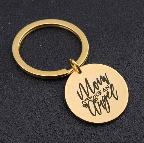 """Mum Of An Angel"" Keyring"