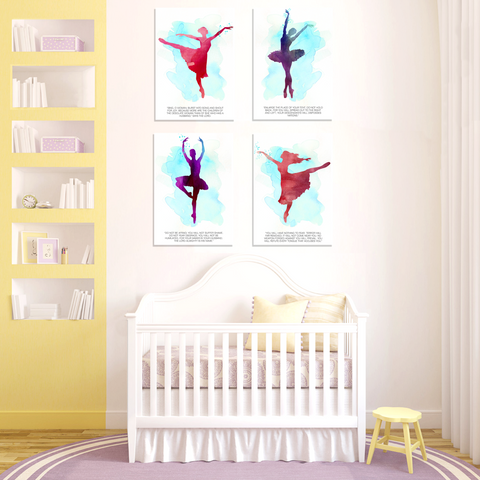 Dancing Into Freedom Watercolor Print Complete Set of 4