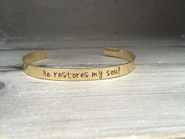 Customisable Bracelet (Brass)