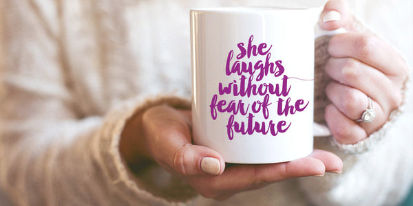 She Laughs Coffee Mug In Mulberry