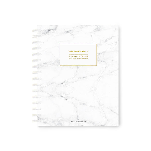 2018 Vision Planner: White Marble