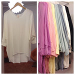 French Terry Tunic Tops