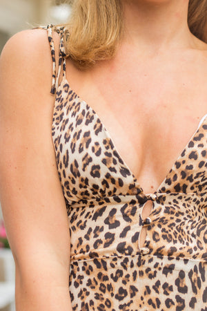 LEOPARD DETAIL DRESS