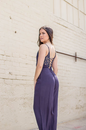 LACE-UP JUMPSUIT