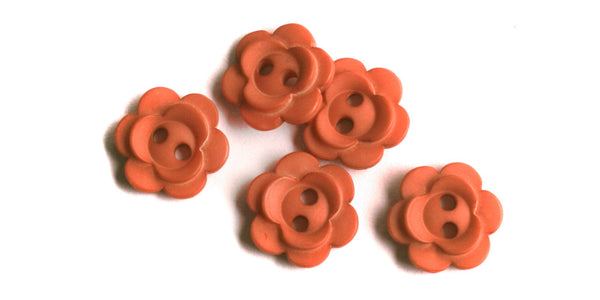 Plastic Button | Vintage Flower | 12mm