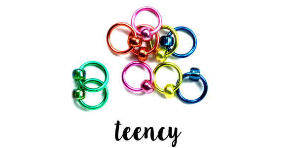 Gems Stitch Markers - TEENCY