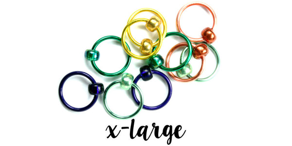 Gems Stitch Markers - X-LARGE