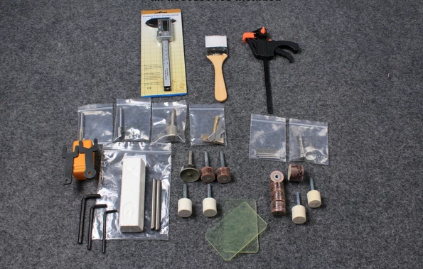 Accessories for the snooker and pool cue tip repair & maintenance lathe