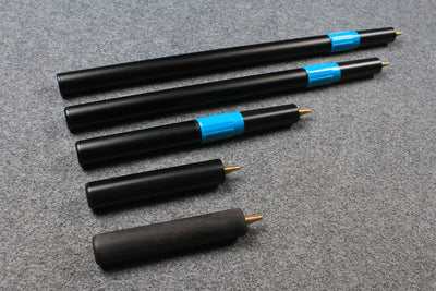 Robert Osborne Cues Telescopic Extension, Ebony Mini Butt  - Various Length