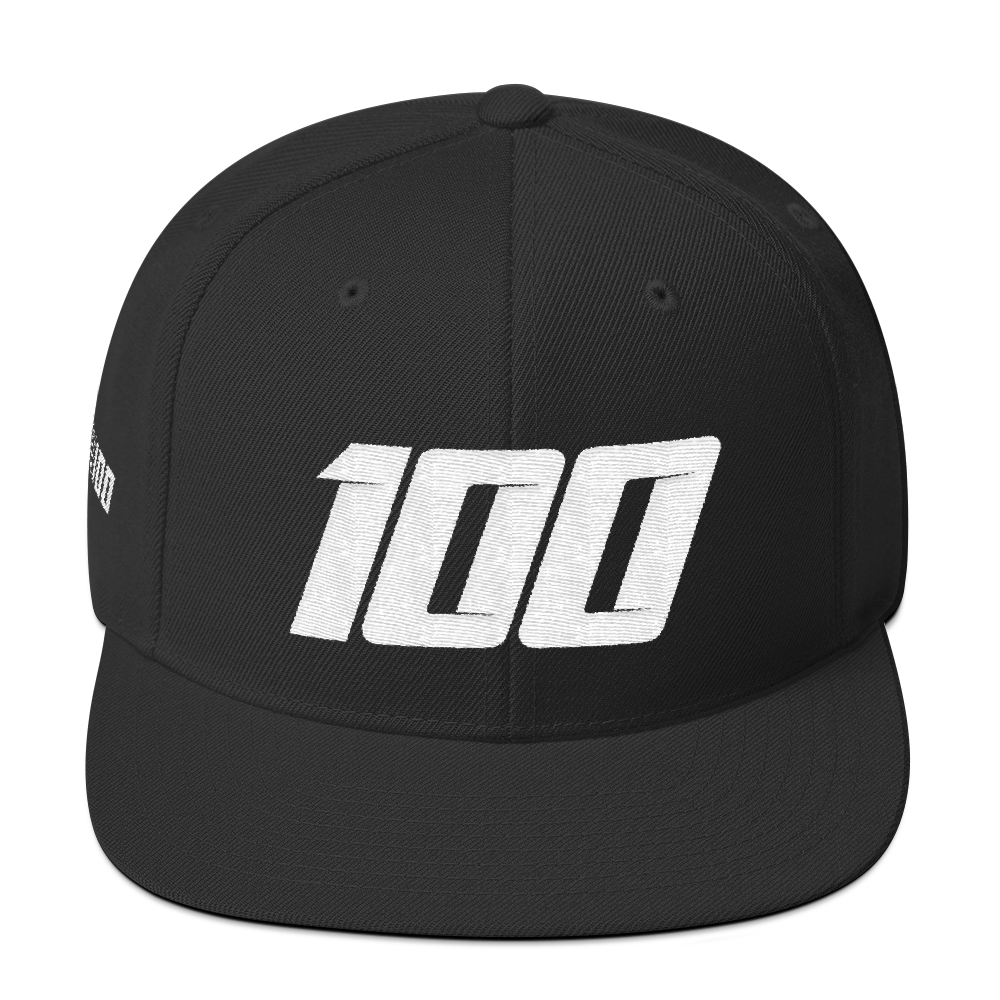 Team 100 Snapback (Blk/White)
