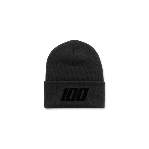 Team 100 - Beanie, Folded (Blackout)