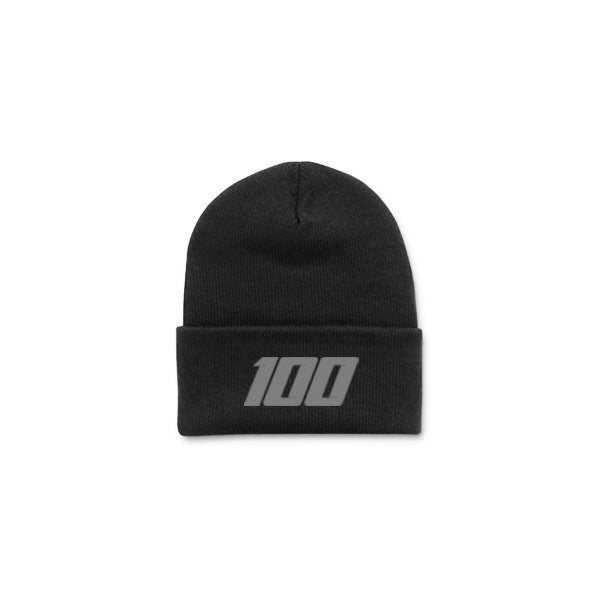 Team 100 - Beanie, Folded (Blk/Grey)