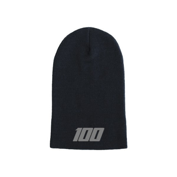 Team 100 - Beanie, Long (Blk/Grey)