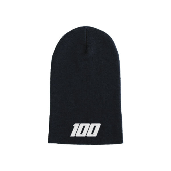 Team 100 - Beanie, Long (Blk/White)