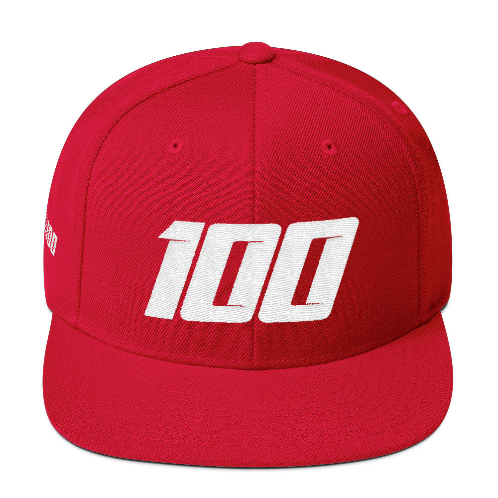 Team 100 Snapback (Red/White)