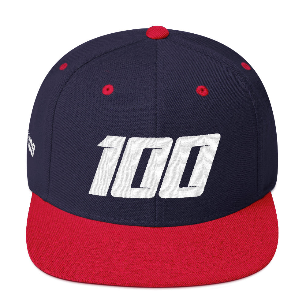 Team100 Snapback (Navy & Red/White)