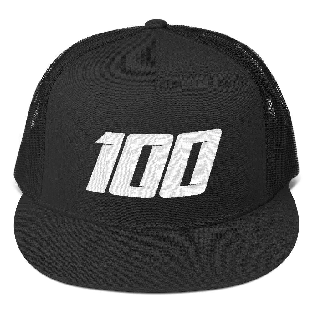Team 100 Trucker Cap (Black/White)