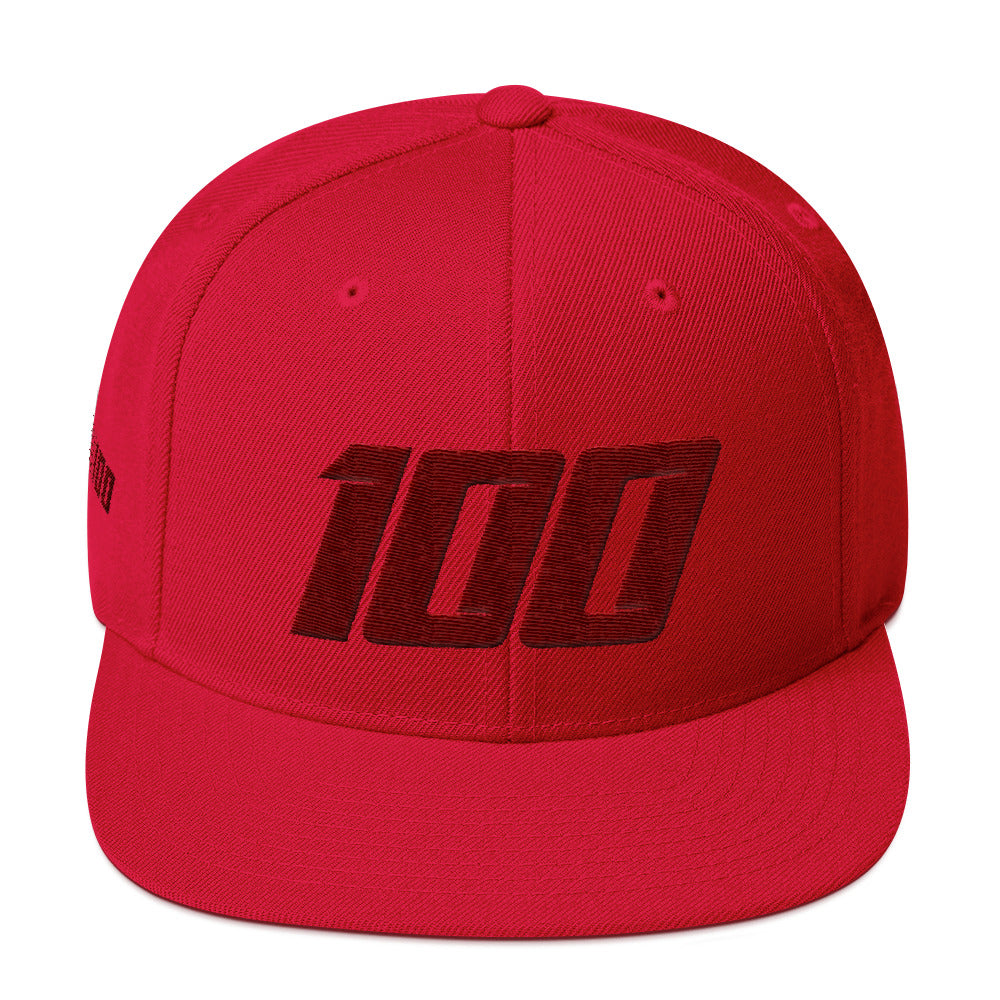 Team 100 Snapback (Red/Crimson)