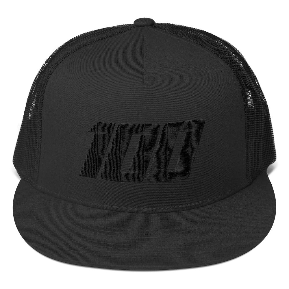 Team 100 Trucker Cap (Black/Black)
