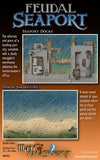 Feudal Seaport: Sandy Shoreline and Seaport Docks