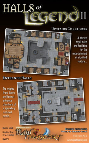 Halls of Legend II: Upstairs Corridors and Entrance Halls