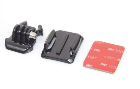 Single GoPro Curved Adhesive Mount and Standard Buckle