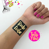 8 Gold & Black Bride Tribe & Bride bachelorette party tattoo