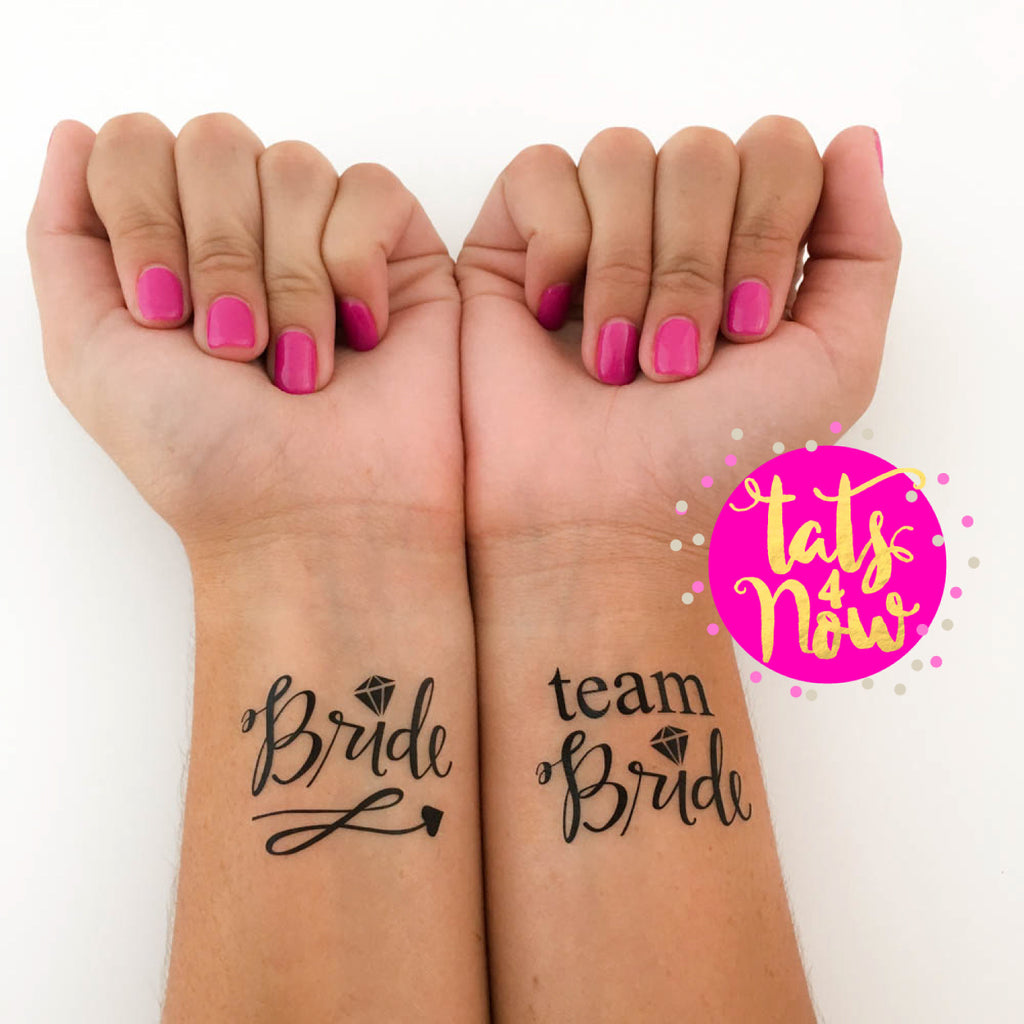 8 ALL BLACK Team bride and Bride party tattoo