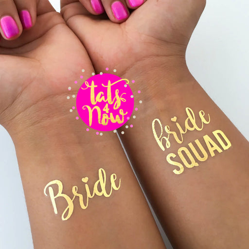 Bride Squad Gold Tattoos