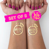 8 Bride Tribe & Bride to be bachelorette party tattoo