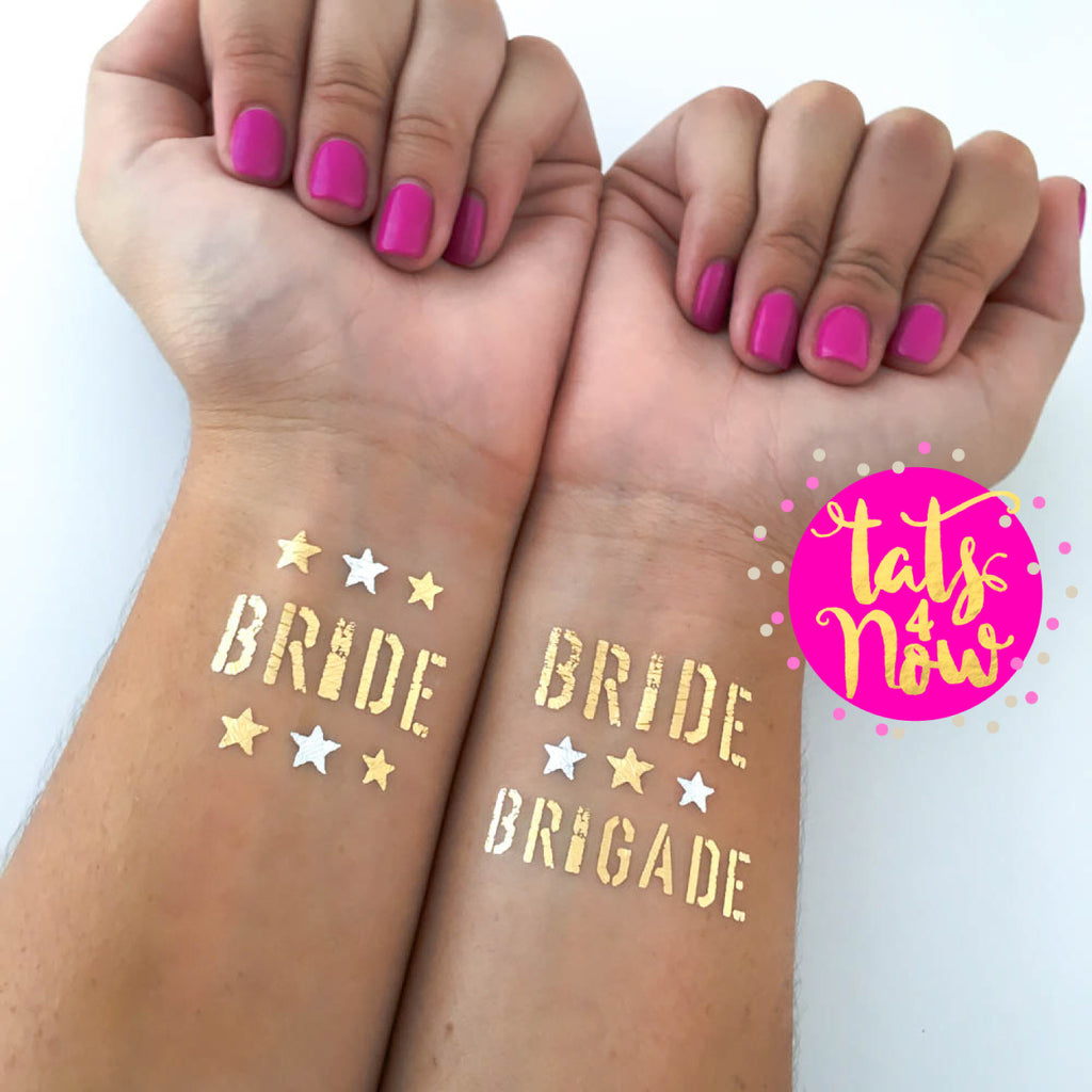 16 Military Bride Brigade and Bride party tattoos
