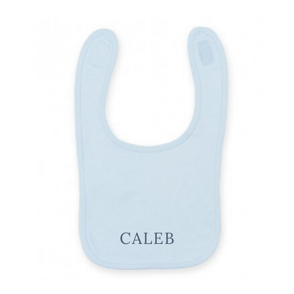 Baby/ Toddler Blue Cotton Bibs