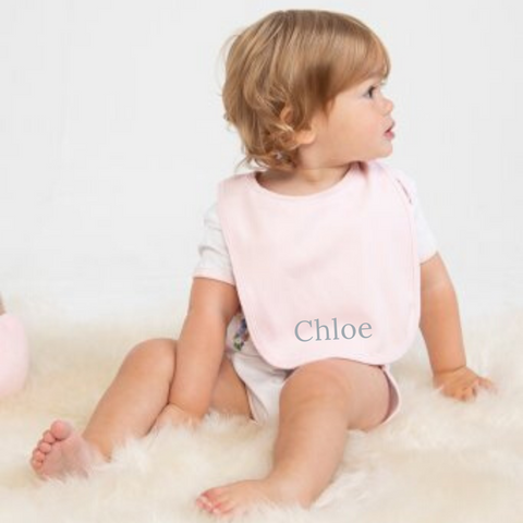 Personalised Pink Cotton Bib
