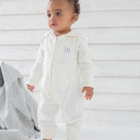 Baby Hooded All in One Playsuit