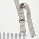 Personalised Grey Striped Apron
