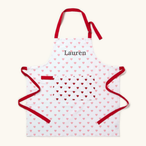 Personalised Love Hearts Apron