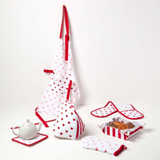 Personalised Cotton Love Hearts Tea Towels Set