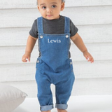 Personalised Baby Denim Dungarees