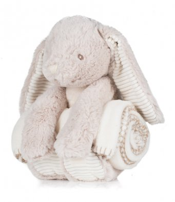 Personalised Bunny Plush Toy with Blanket