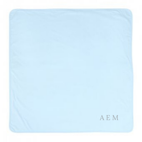 Personalised Blue Cotton Baby Blanket