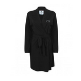 Personalised Black Cotton Robe