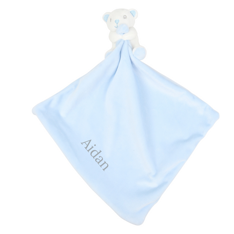 Personalised Bear Comforter with Rattle
