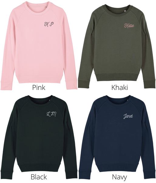 Custom Hand Embroidered Sweatshirt - Initials/ Name