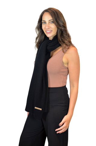 Personalised Black Pure Cashmere Wrap