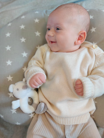 Personalised Cashmere Baby Jumper