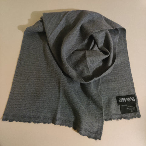 Personalised Dark Grey Pure Cashmere Unisex Scarf