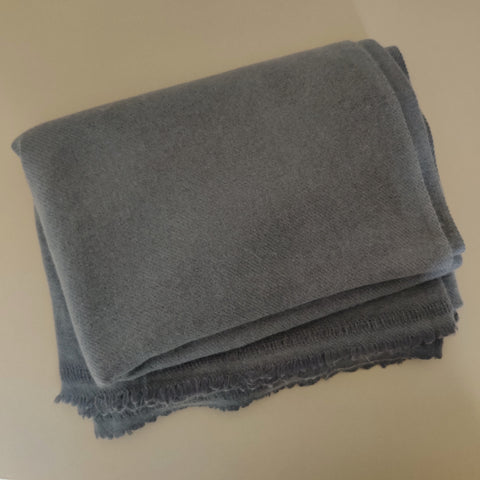 Personalised Dark Grey Pure Cashmere Throw