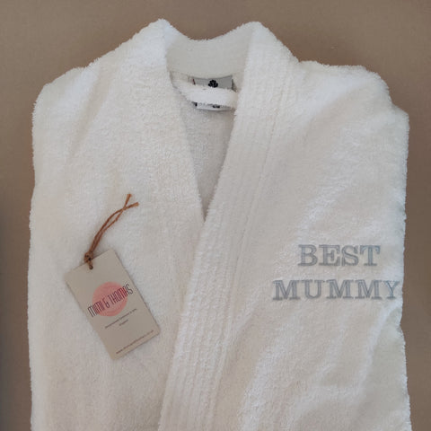 Personalised Unisex White Towelling Robe