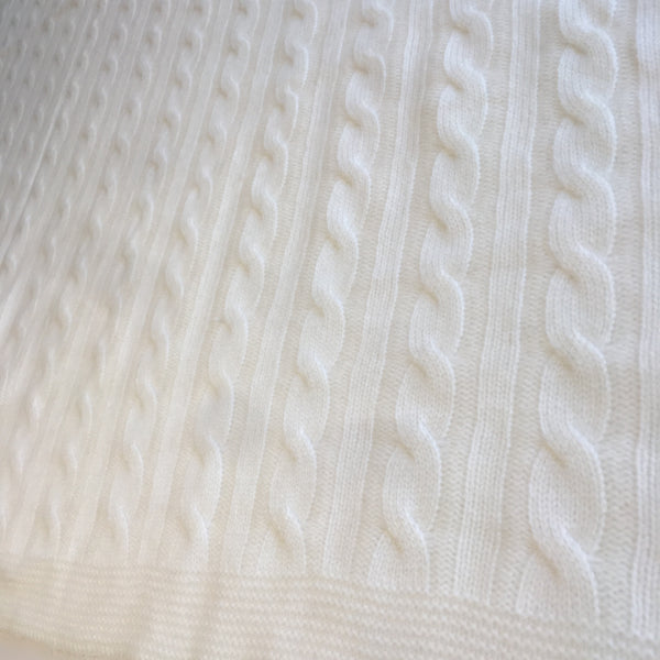 Ivory 100% Cashmere Baby Blanket