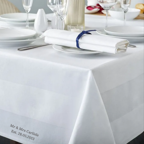 Personalised Premium Satin Band Table Cloth